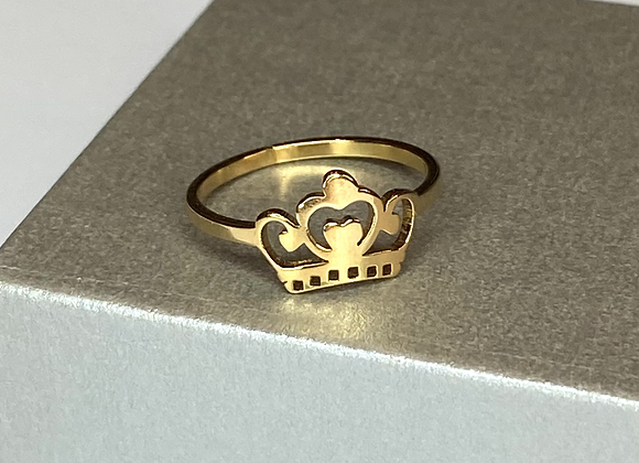 Dainty Gold Crown Ring