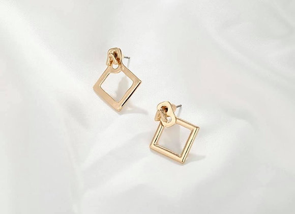 Diamond Shape Stud Earrings