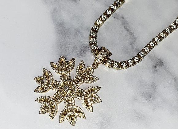 Gold Snowflake Pendant