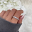 Thumbnail: Sterling Silver Heart Ice Ring