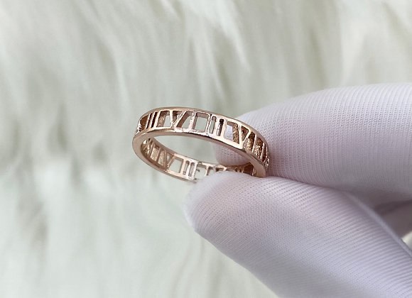 Rose Gold Numeral Ring