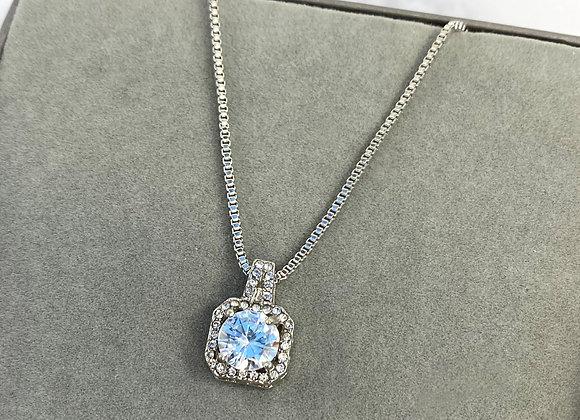 Square Stone Necklace