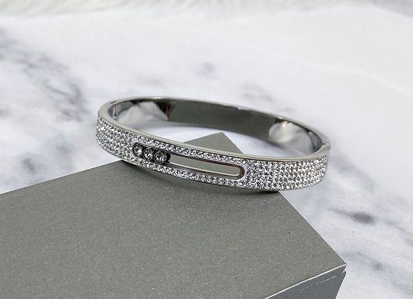 Silver Full Stone Luxe Bangle