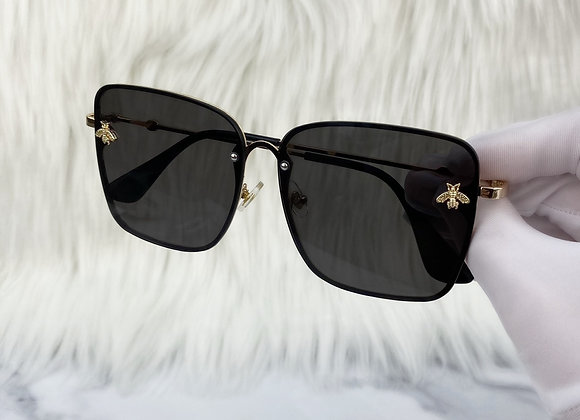 Square Black Bug Sunglasses