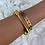 Thumbnail: Gold Numeral Bangle 7mm