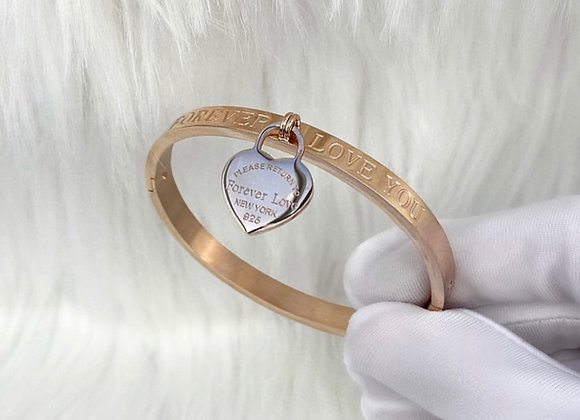'Forever Love' Rose Gold Plated Bangles