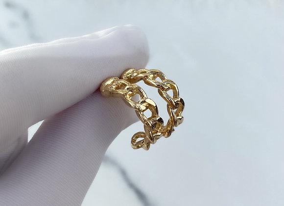 Gold Mini Chain Hoops