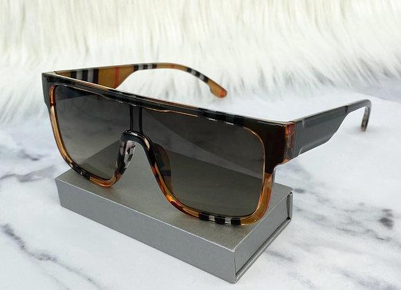 Black Check Oversized Sunglasses