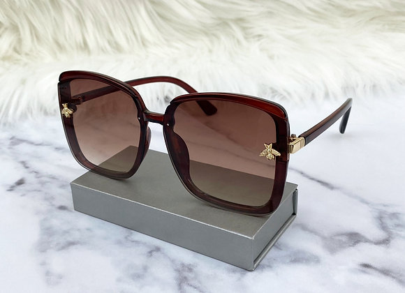 Oversized Brown Bug Sunglasses