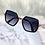 Thumbnail: Polygon Stripe Oversized Sunglasses