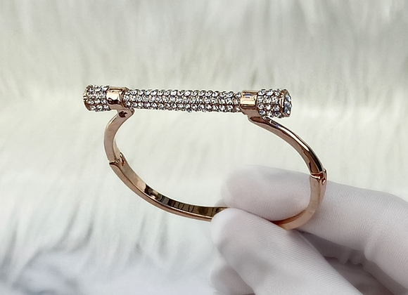 Rose Gold Bar Diamante Bracelet