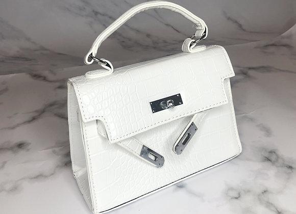 White Croc Peek Bag