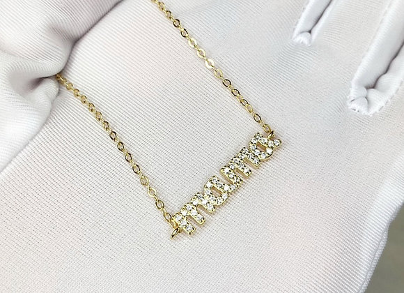 'Mama' Sterling Silver Gold Necklace