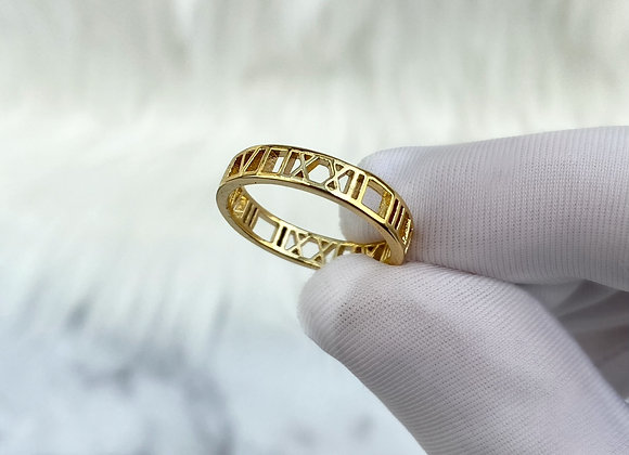 Gold Numeral Ring