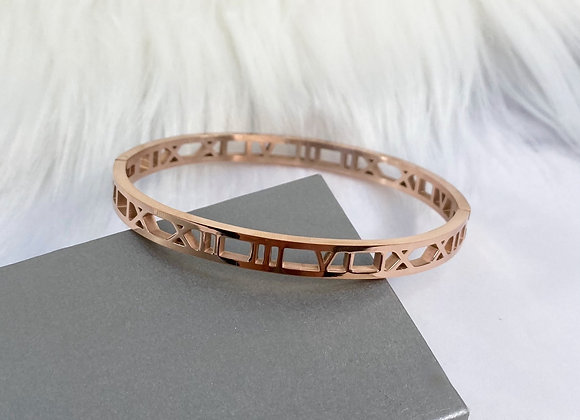 Rose Gold Numeral Bracelet 5mm