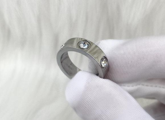 Silver Diamante Ring 6mm