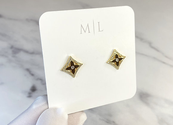 Diamond Gold Sparkle Studs