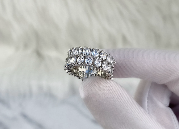 Sterling Silver Miami Ice Ring