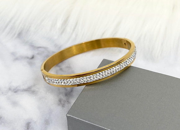 Gold Sparkle Bangle 8mm