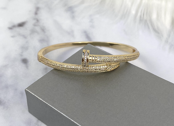 Gold Luxe Sparkle Nail Bangle