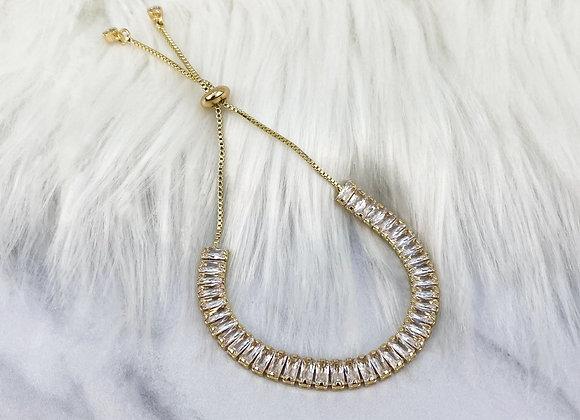 Gold Adjustable Crystal Bracelet