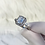 Thumbnail: Sterling Silver Large Detailed Stone Ring