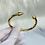 Thumbnail: Gold Spike Cuff Bangle