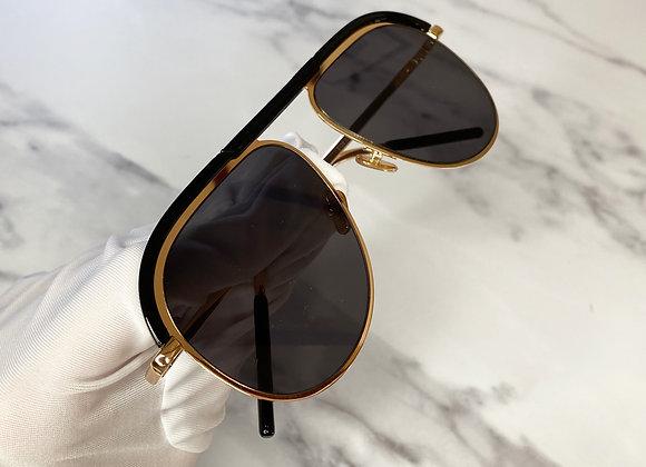 Adele Black Aviator Sunglasses