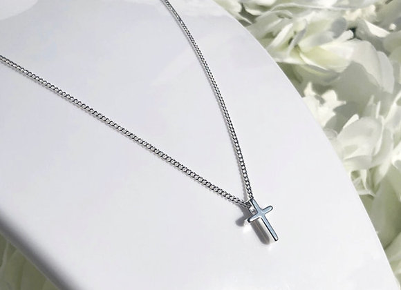 Sterling Silver Dainty Cross Necklace