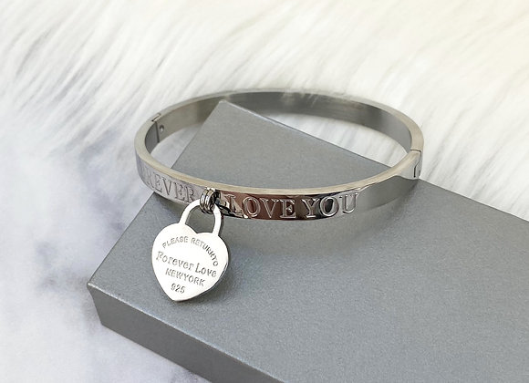 'Forever Love' SilverPlated Bangles