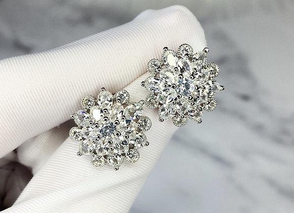 Sterling Silver Oversized Earrings