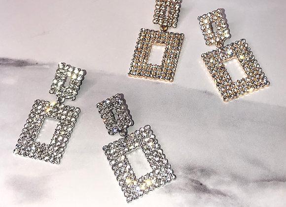 Diamante Knocker Earrings