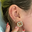 Thumbnail: Pearl & Gold Stud Earrings
