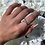 Thumbnail: Silver Crossed Ring