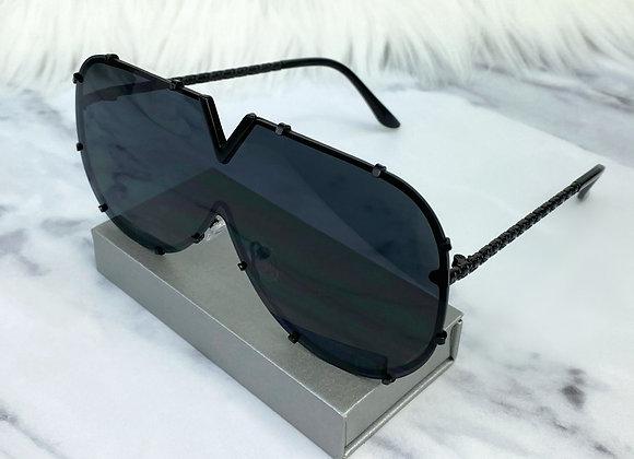 Black V Sunglasses