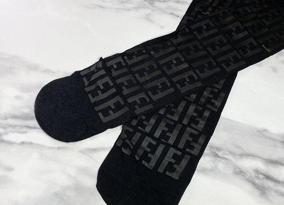 Printed Sheer Socks