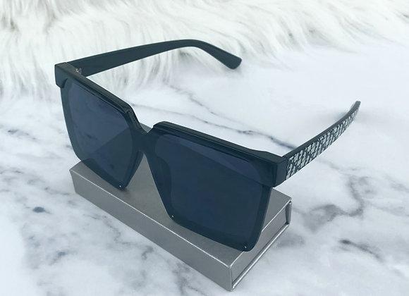 Kia Black Pattern Sunglasses