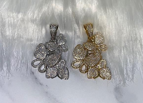 Silver Multi Butterfly Pendant
