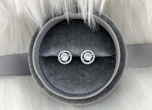 Sterling Silver Round Raised Studs