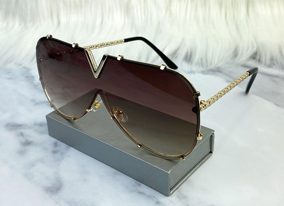 Brown V Sunglasses