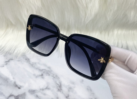 Oversized Black Square Bug Sunglasses