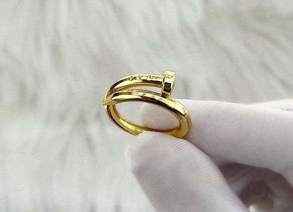 Gold Screw Ring