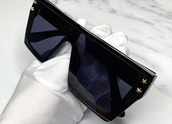 Kelsey Oversized Black Sunglasses