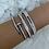 Thumbnail: Silver Full Stone Luxe Bangle