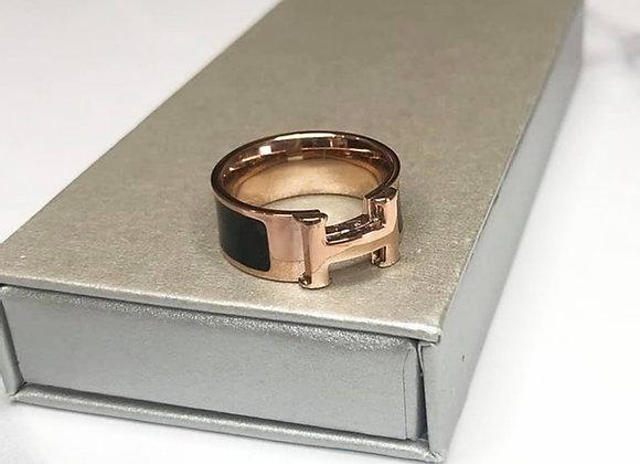 Black H Ring