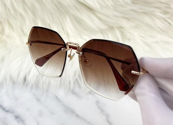 Sienna Polygon Brown Sunglasses