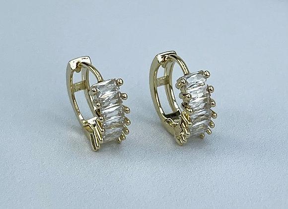 Jewel Stone Mini Hoops