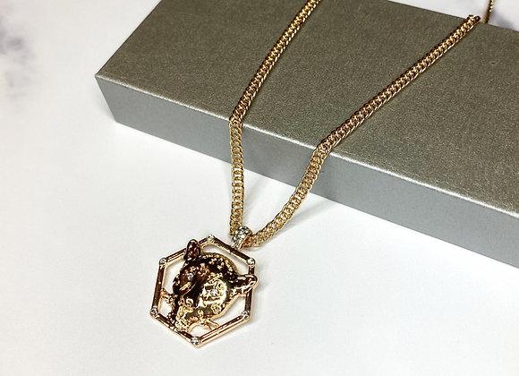 Leopard Gold Pendant Necklace