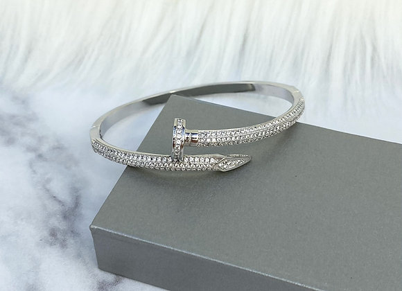 Silver Luxe Nail Bangle