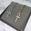 Thumbnail: Gold Diamante Round Cross Necklace